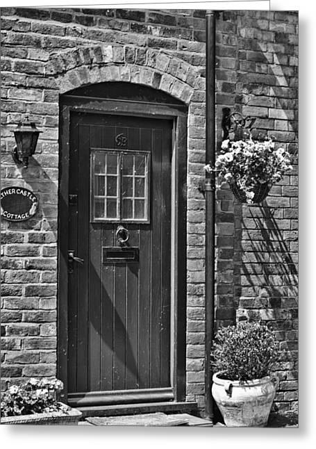 Warwick Door Greeting Card by Georgia Fowler
