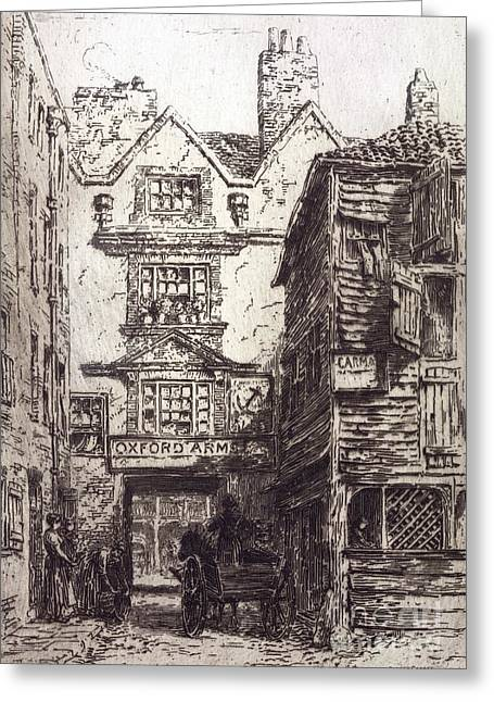 Warwick Lane, London, 19th Century Greeting Card