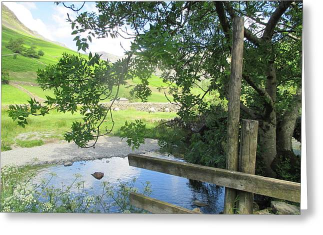 Wasdale Head Stile Greeting Card by Kathy Spall