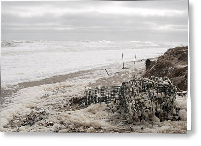 Wash A Shore From Storm Saturn  Greeting Card by Eugene Bergeron
