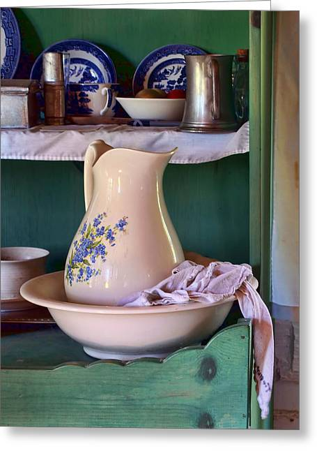 Wash Basin Still Life Greeting Card by Nikolyn McDonald