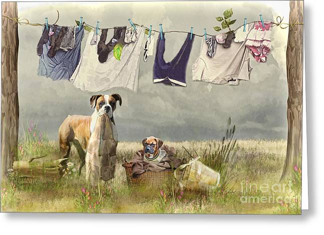 Wash Day Greeting Card