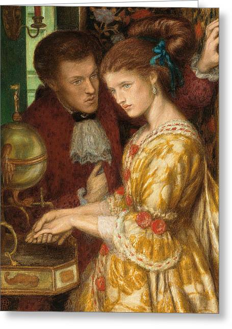 Washing Hands Greeting Card by Dante Gabriel Charles Rossetti