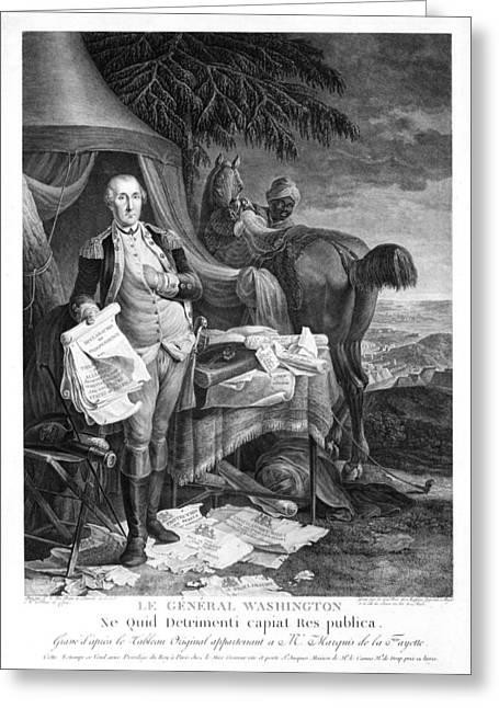 Washington At Yorktown Greeting Card by Granger