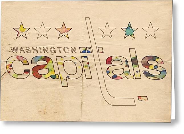 Washington Capitals Logo Art Greeting Card