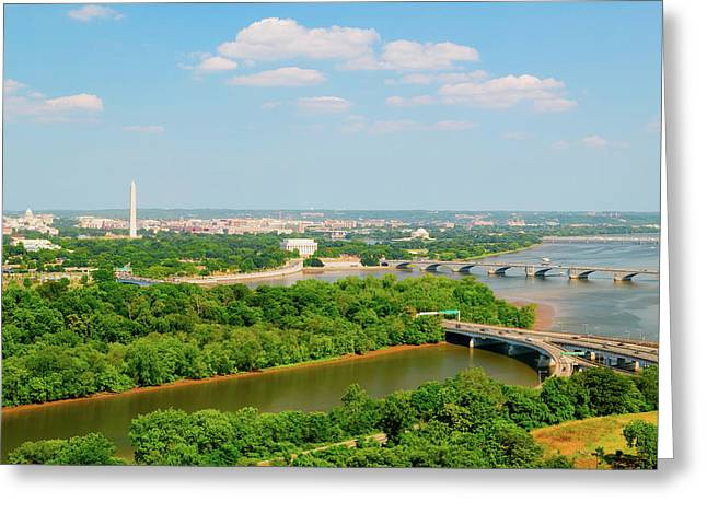 Washington D.c. Aerial View Greeting Card