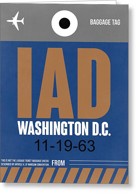 Washington D.c. Airport Poster 4 Greeting Card by Naxart Studio