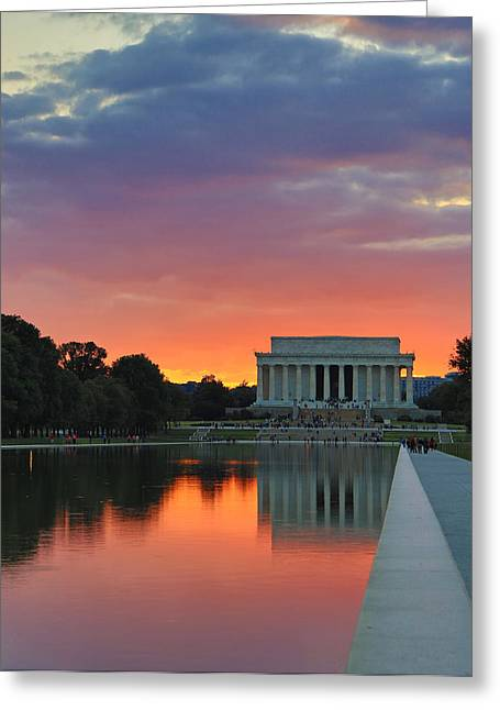Washington Dc Night Greeting Card by Jack Nevitt