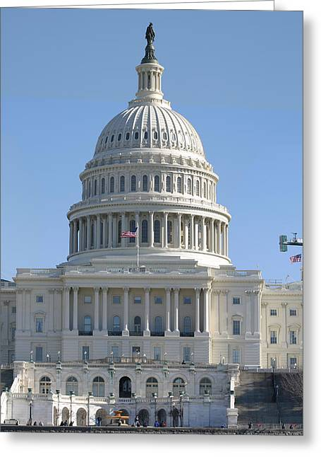 Washington Dc - Us Capitol - 01131 Greeting Card by DC Photographer