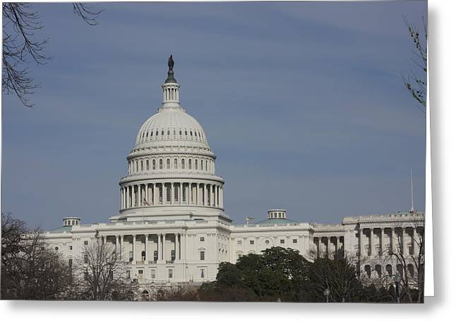 Washington Dc - Us Capitol - 01136 Greeting Card by DC Photographer