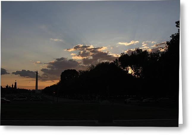 Washington Dc - Washington Monument - 01134 Greeting Card
