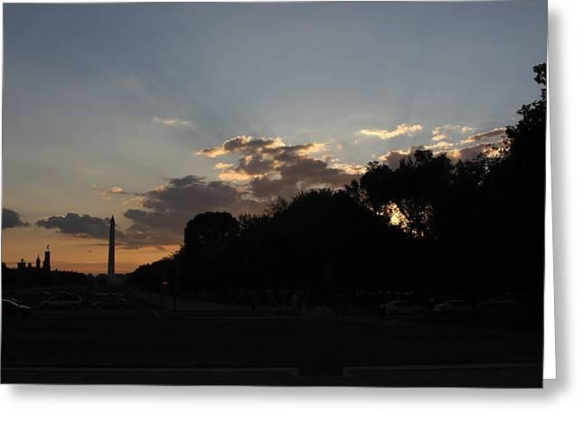 Washington Dc - Washington Monument - 01134 Greeting Card by DC Photographer