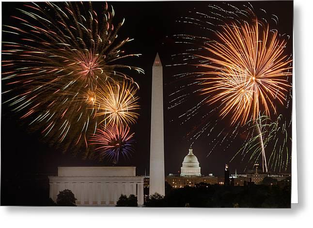 Washington Fireworks Greeting Card
