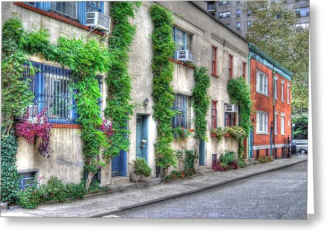 Washington Mews In Greenwich Village Greeting Card by Randy Aveille
