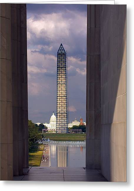 Washington Monument And Capitol 2 Greeting Card by Stuart Litoff