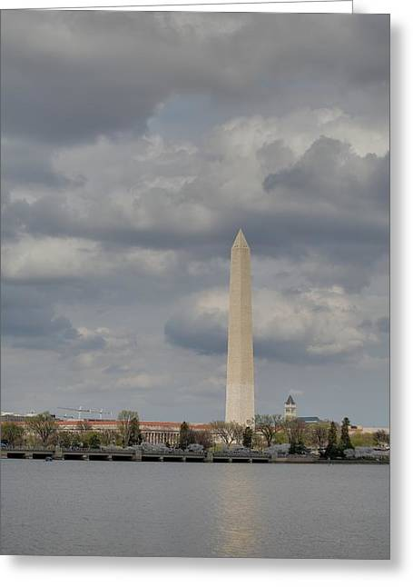 Washington Monument - Cherry Blossoms - Washington Dc - 011335 Greeting Card by DC Photographer