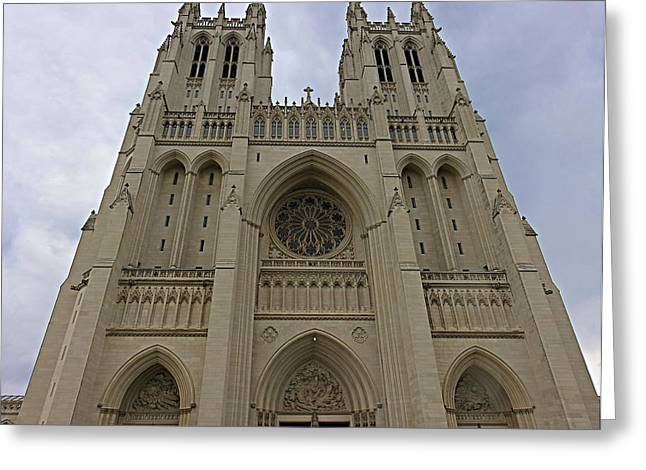Washington National Cathedral - Washington Dc - 01131 Greeting Card by DC Photographer