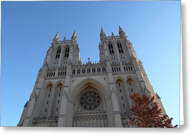Washington National Cathedral - Washington Dc - 0113116 Greeting Card by DC Photographer