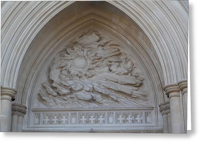 Washington National Cathedral - Washington Dc - 0113117 Greeting Card by DC Photographer