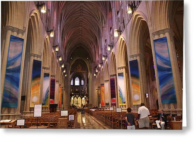 Washington National Cathedral - Washington Dc - 011376 Greeting Card by DC Photographer
