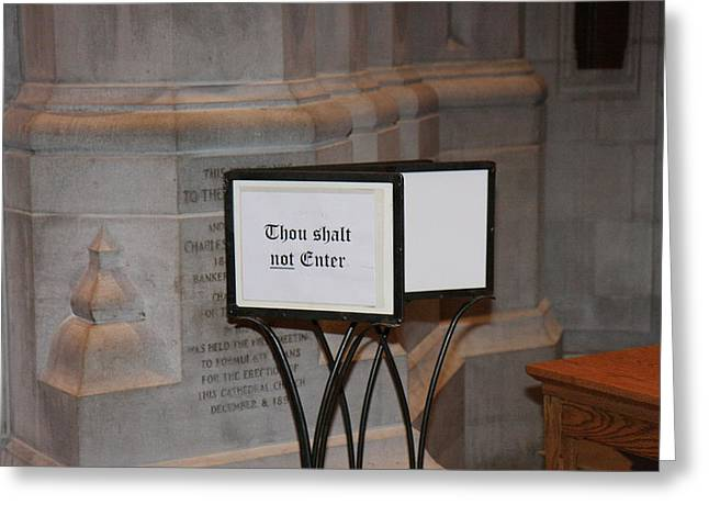Washington National Cathedral - Washington Dc - 011396 Greeting Card by DC Photographer