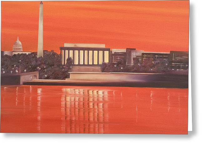 Washington Greeting Card by Neil Kinsey Fagan