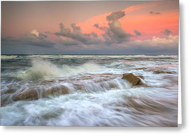 Washington Oaks State Park St. Augustine Fl - The Pastel Sea Greeting Card by Dave Allen