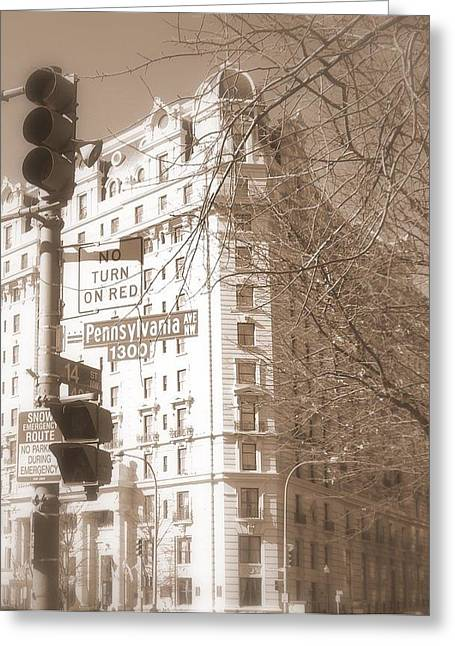 Greeting Card featuring the photograph Washington by Paula Brown