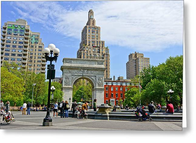 Washington Square Park Greeting Card by Georgia Fowler