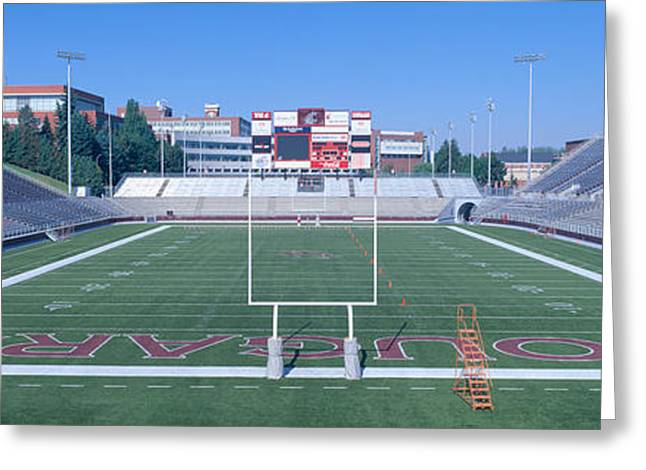 Washington State University Football Greeting Card by Panoramic Images