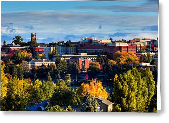 Washington State University In Autumn Greeting Card