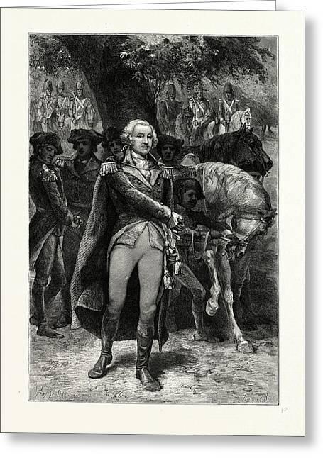 Washington Taking Command. George Washington 17321799 Greeting Card by American School