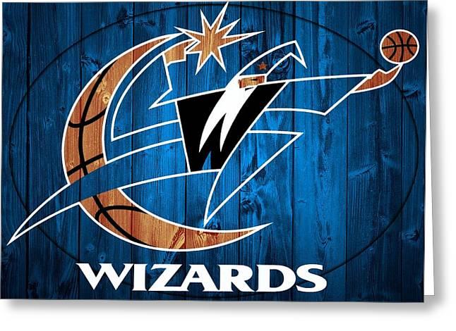 Washington Wizards Barn Door Greeting Card by Dan Sproul