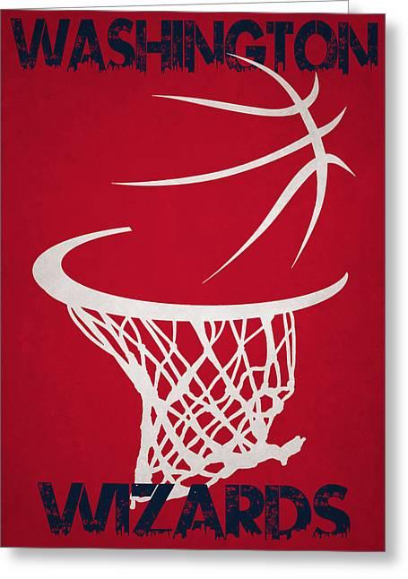 Washington Wizards Hoop Greeting Card by Joe Hamilton