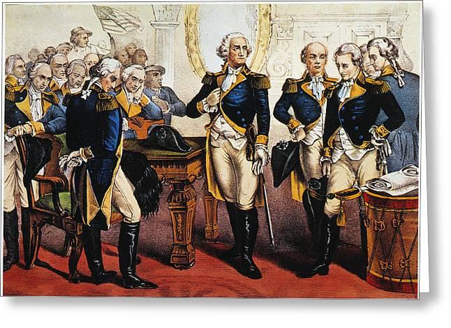 Washingtons Farewell Greeting Card by Granger