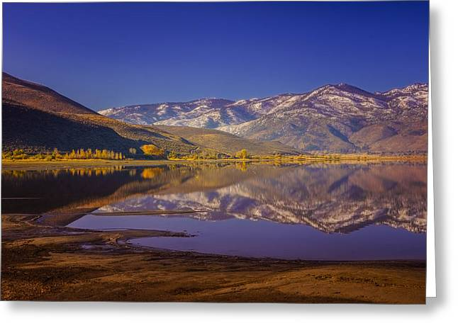 Washoe Lake In Late Fall Greeting Card by Janis Knight