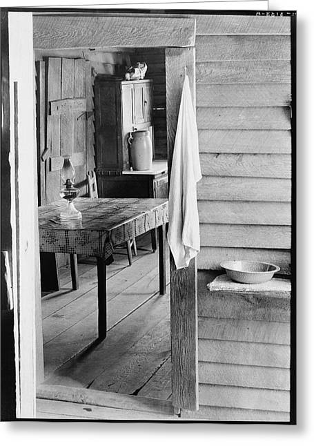 Washstand In The Dog Run And Kitchen Of Floyd Burroughs Cabin. Greeting Card