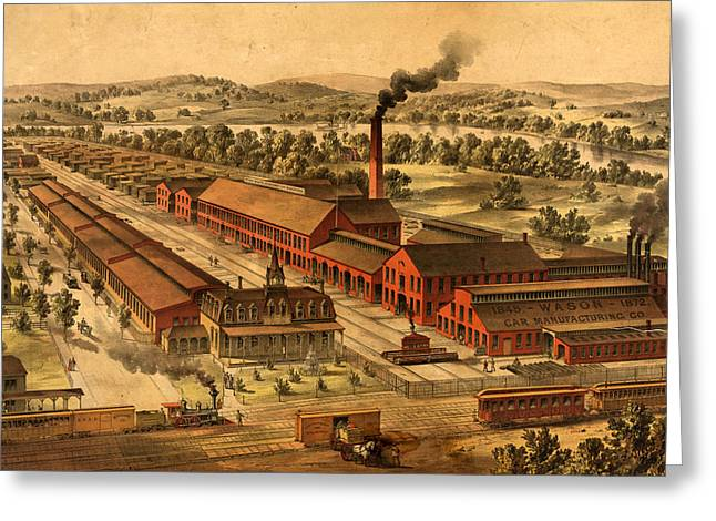 Wason Manufacturing Company Of Springfield Greeting Card