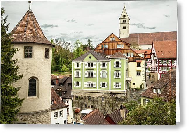 Wasserburg, On Lake Constance, Germany Greeting Card by Sheila Haddad