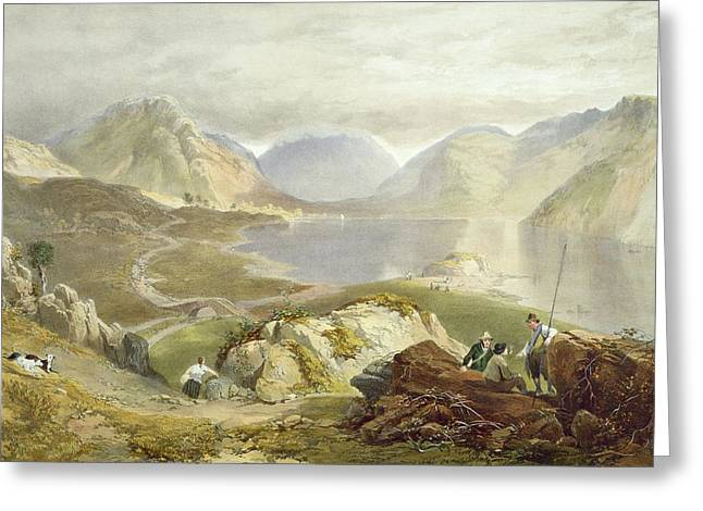 Wast Water, From The English Lake Greeting Card by James Baker Pyne
