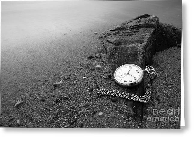 Wasted Time Greeting Card by Maurizio Bacciarini