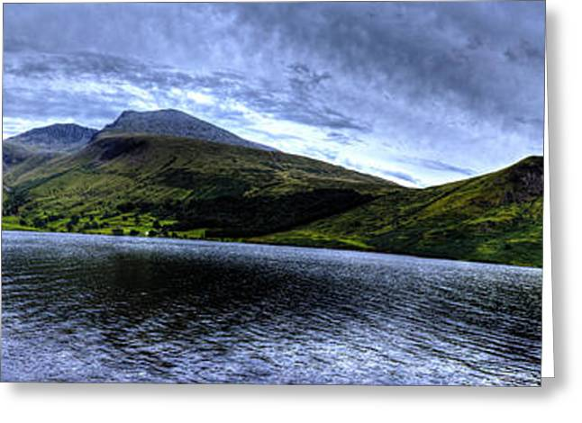 Wastwater Panorama Greeting Card by Chris Whittle