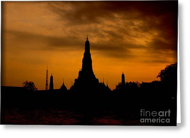 Wat Arun Greeting Card by Alina Satir