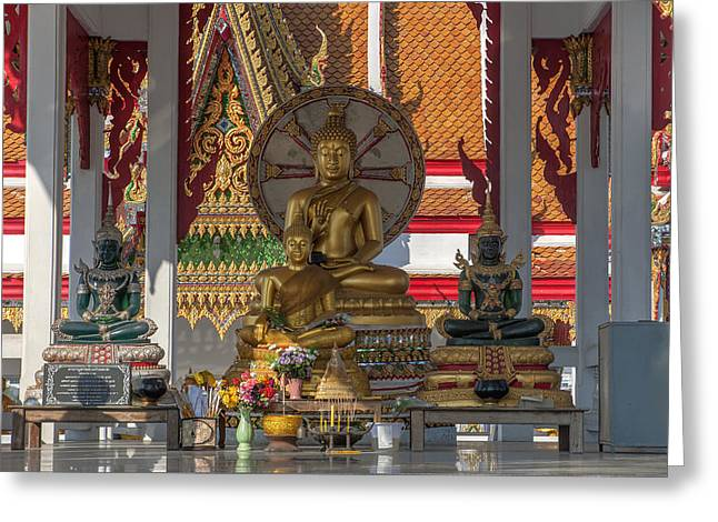 Wat Bukkhalo Central Roof-top Pavilion Buddha Images Dthb1812 Greeting Card by Gerry Gantt