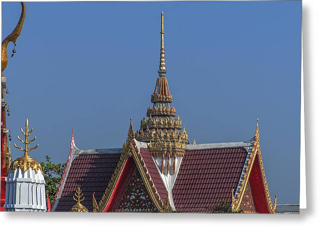 Wat Bukkhalo Spire And Gables Dthb1823 Greeting Card by Gerry Gantt