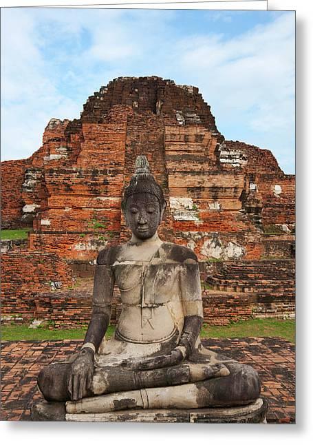 Wat Chaiwatthanaram, Ayutthaya Greeting Card by Keren Su