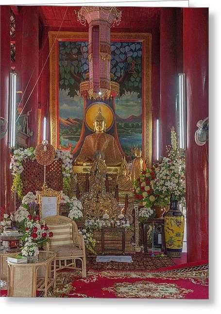 Wat Chedi Liem Phra Wihan Buddha Image Dthcm0827 Greeting Card