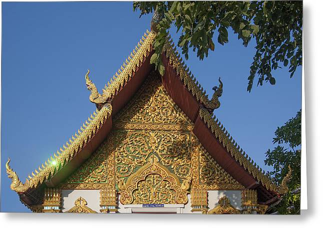 Wat Muen Larn Phra Ubosot Gable  Dthcm0279 Greeting Card by Gerry Gantt