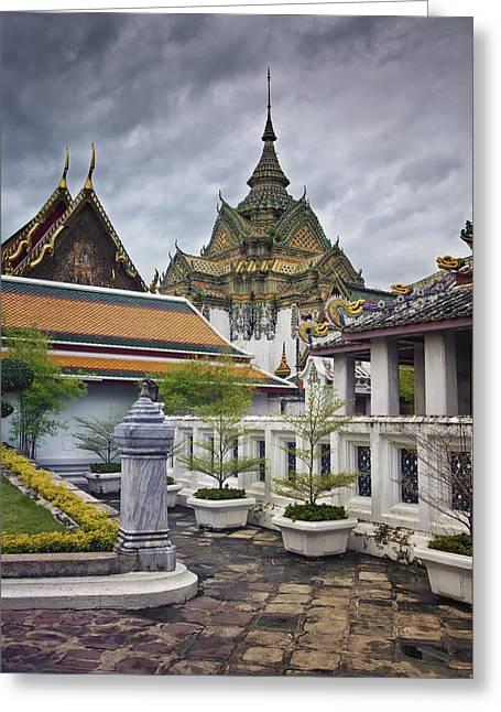 Wat Pho Temple Gardens Greeting Card