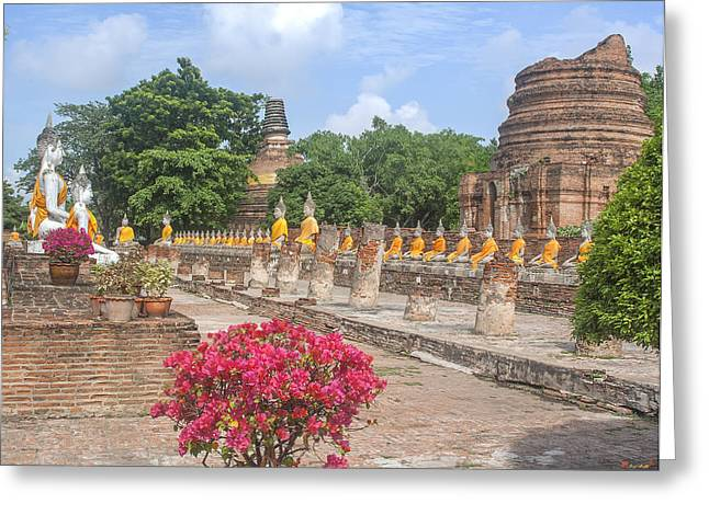Wat Phra Chao Phya-thai Buddha Images And Ruined Chedi Dtha004 Greeting Card